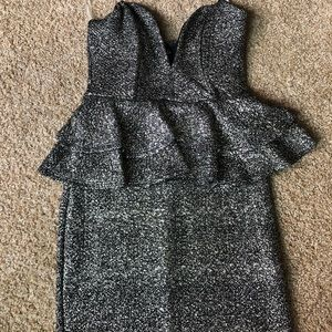 Windsor strapless silver and black dress